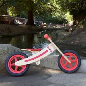 wooden balance bike
